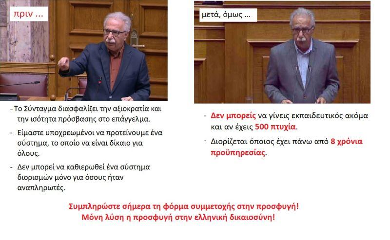 """Το """"πριν"""" και το """"μετά"""" του κ.Γαβρόγλου"""