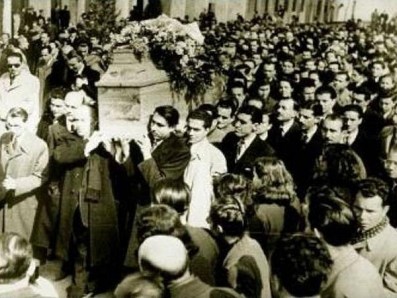 Κωστής Παλαμάς - Η κηδεία του