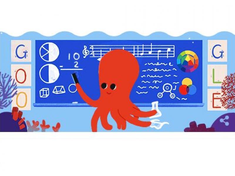 Αφιερωμένο στην Παγκόσμια Ημέρα Εκπαιδευτικών το doodle της Google