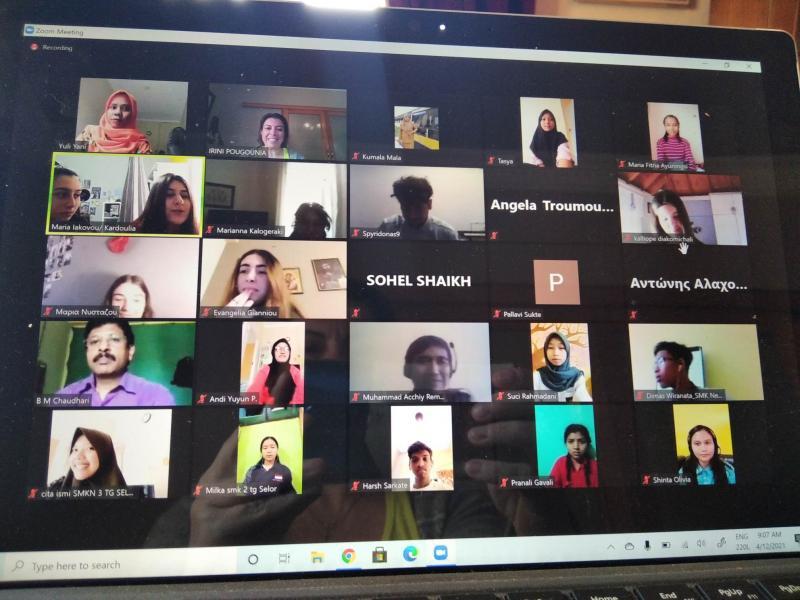 1ο ΓΕΛ Καλύμνου:Διαπολιτισμική συνάντηση με μαθητές από την Ινδονησία & την Ινδία