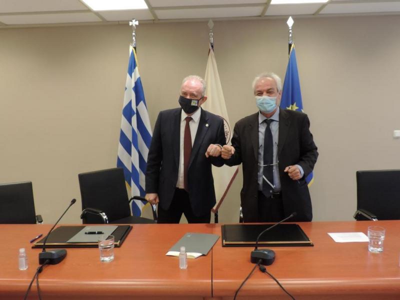 Μνημόνιο Συνεργασίας του ΔΠΘ και του Οργανισμού Αντισεισμικού Σχεδιασμού