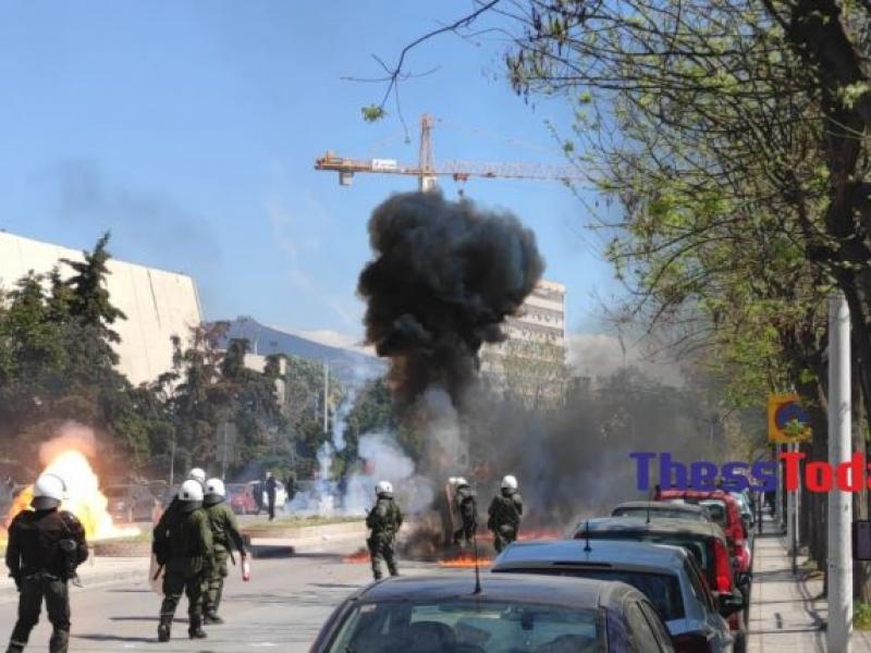 Φοιτητικό συλλαλητήριο: Χημικά και μολότοφ στη Θεσσαλονίκη