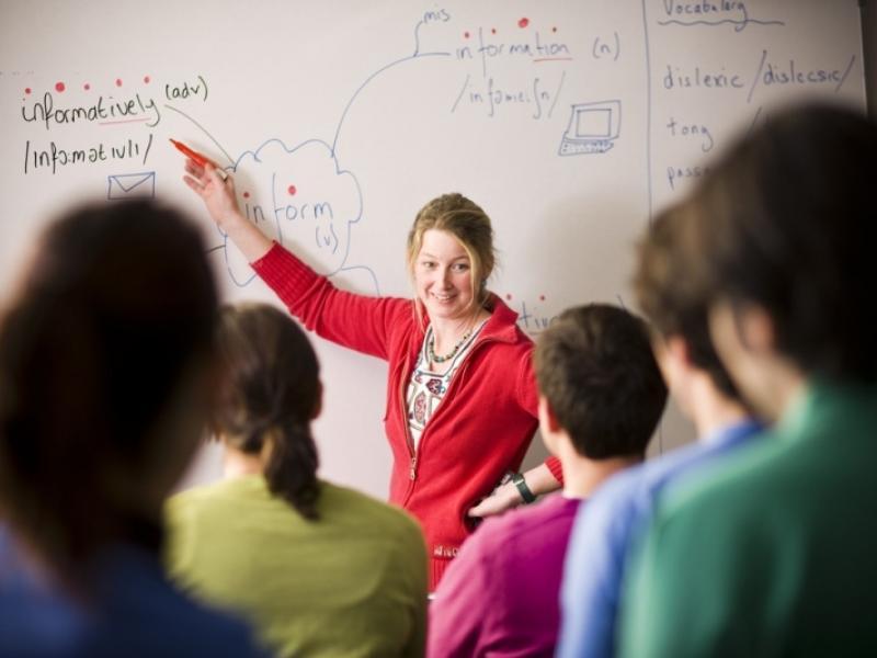 καθηγητής, μαθητές, σχολική τάξη, σχολείο