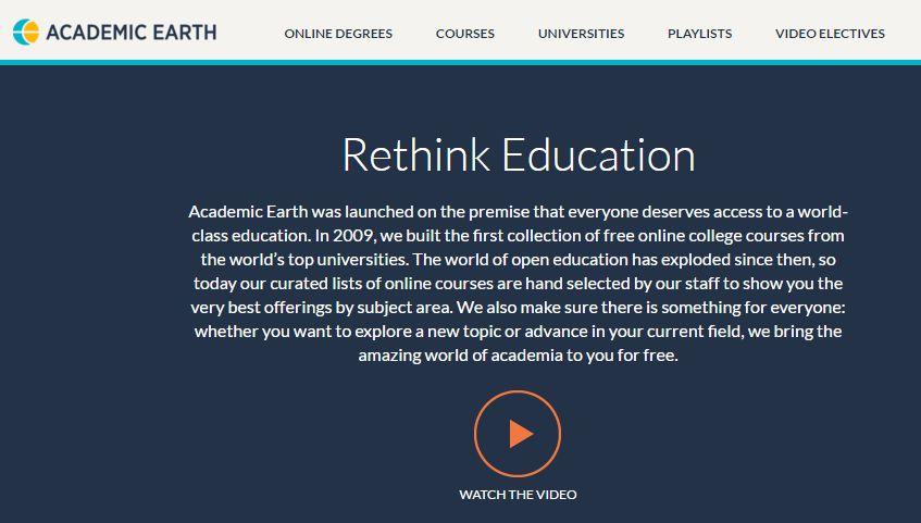 academic earth, alfavita.gr